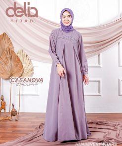 Baju Muslim Casual - Baju Gamis Modern - Baju Gamis Murah dan Cantik - Baju Gamis Model Sekarang - Delia Hijab Sukabumi - Casanova Dress - N