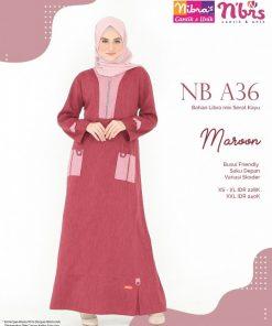 Sarimbit Nibras - Gamis Nibras NB A36 - Delia Hijab
