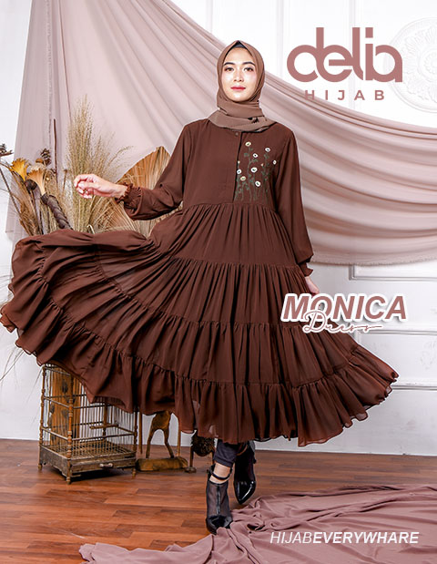 Delia Hijab Sukabumi – Baju Muslim Casual – Baju Muslim Sukabumi – Baju Gamis Modern – Baju Gamis Model Sekarang – Gamis Syari Modis – Baju Gamis Murah dan Cantik - Monica Dress