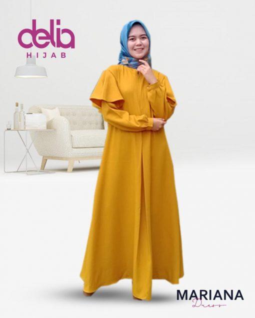 Delia Hijab Sukabumi – Baju Muslim Casual – Baju Muslim Sukabumi – Baju Gamis Modern – Baju Gamis Model Sekarang – Gamis Syari Modis – Baju Gamis Murah dan Cantik - Mariana Dress - K