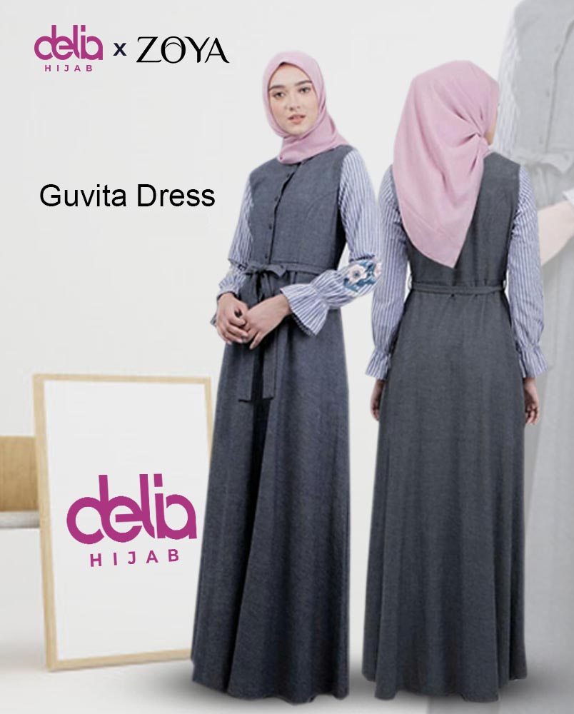 Zoya Dress - Guvita Dress - Delia Hijab