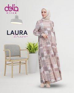 Delia Hijab Sukabumi – Baju Muslim Sukabumi – Baju Gamis Modern – Baju Gamis Model Sekarang – Gamis Syari Modis – Baju Gamis Murah dan Cantik - Laura Dress 1