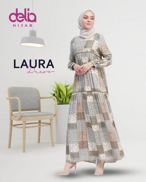 Delia Hijab Sukabumi – Baju Muslim Sukabumi – Baju Gamis Modern – Baju Gamis Model Sekarang – Gamis Syari Modis – Baju Gamis Murah dan Cantik - Laura Dress 2