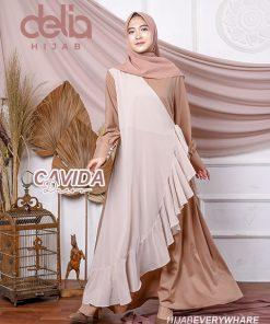 Delia Hijab Sukabumi – Baju Muslim Sukabumi – Baju Gamis Modern – Baju Gamis Model Sekarang – Gamis Syari Modis – Baju Gamis Murah dan Cantik - Cavida Dress C