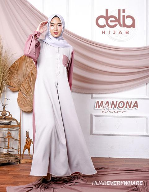 Delia Hijab Sukabumi – Baju Muslim Sukabumi – Baju Gamis Modern – Baju Gamis Model Sekarang – Gamis Syari Modis – Baju Gamis Murah dan Cantik - Manona Dress Pink