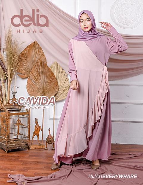 Delia Hijab Sukabumi – Baju Muslim Sukabumi – Baju Gamis Modern – Baju Gamis Model Sekarang – Gamis Syari Modis – Baju Gamis Murah dan Cantik - Cavida Dress P