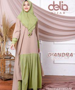 Delia Hijab Sukabumi – Baju Muslim Sukabumi – Baju Gamis Modern – Baju Gamis Model Sekarang – Gamis Syari Modis – Baju Gamis Murah dan Cantik - Diandra Dress Hijau
