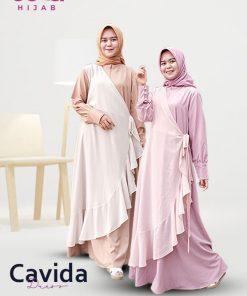 Delia Hijab Sukabumi – Baju Muslim Sukabumi – Baju Gamis Modern – Baju Gamis Model Sekarang – Gamis Syari Modis – Baju Gamis Murah dan Cantik - Cavida Dress