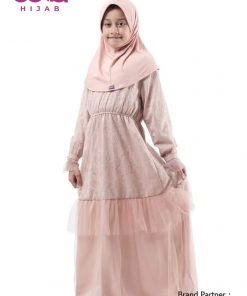 Baju Lebaran 2020 Terbaru - Baju Gamis Anak Elzatta Sarimbit Asteria Girl