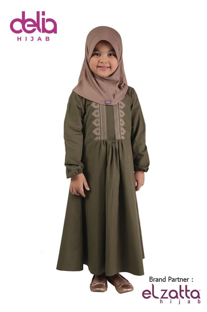 Baju Lebaran 2020 Terbaru - Baju Gamis Anak Elzatta Sarimbit Fadria Girl