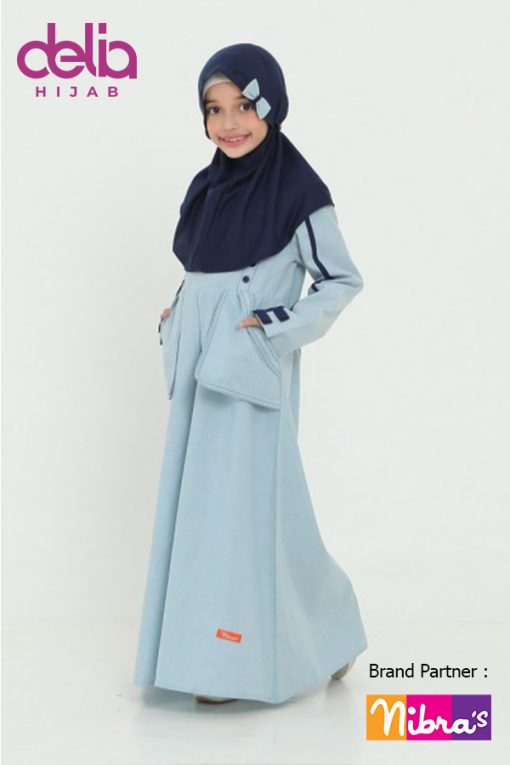 Baju Lebaran Anak Perempuan 2020 – Sarimbit Nibras 65 – Gamis Anak NSAP 65 B