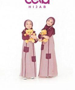 Baju Lebaran Anak Terbaru - Sarimbit Nibras 67 - Gamis Anak NSAP 67