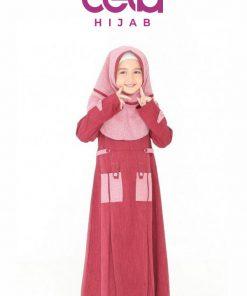 Baju Lebaran Keluarga – Sarimbit Nibras 66 Gamis Anak NSAP 66
