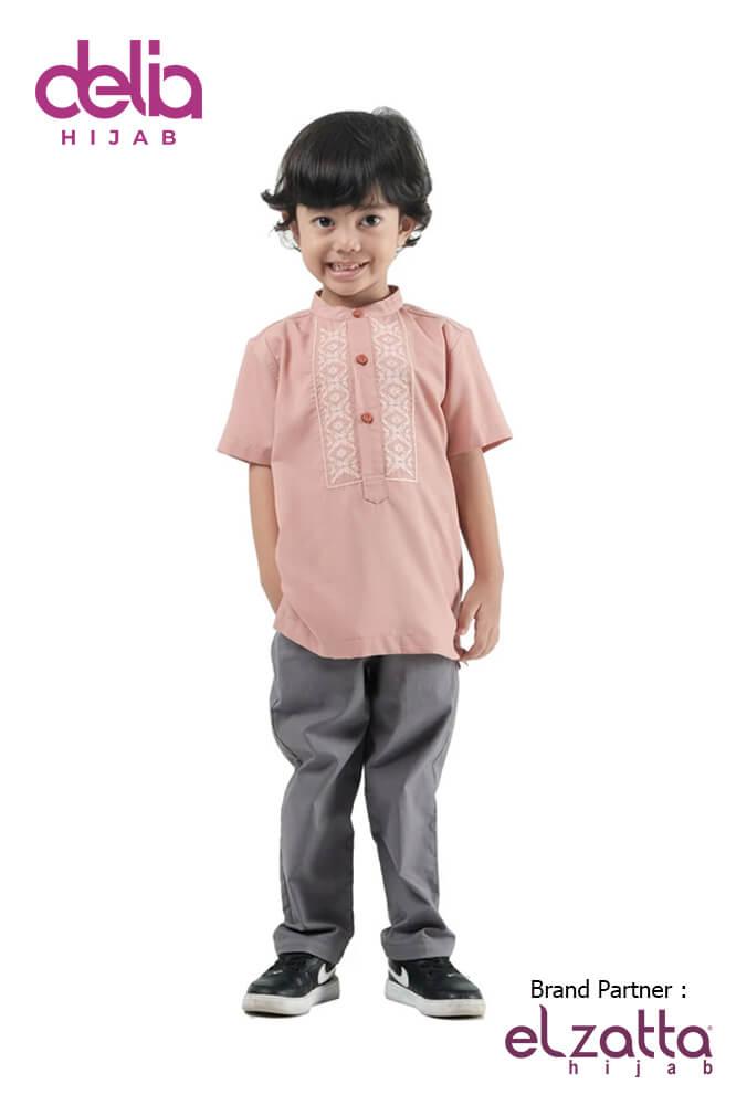 Baju Muslim Lebaran Idul Fitri 2020 - Baju Elzatta Sarimbit Asteria Boy