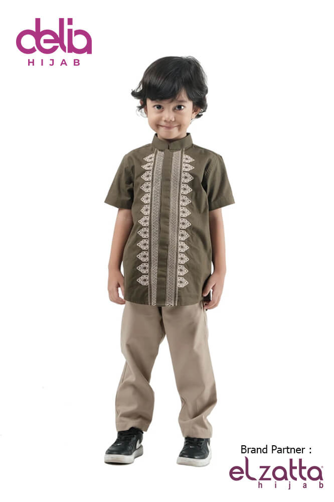 Baju Muslim Lebaran Idul Fitri 2020 - Baju Elzatta Sarimbit Fadria Boy