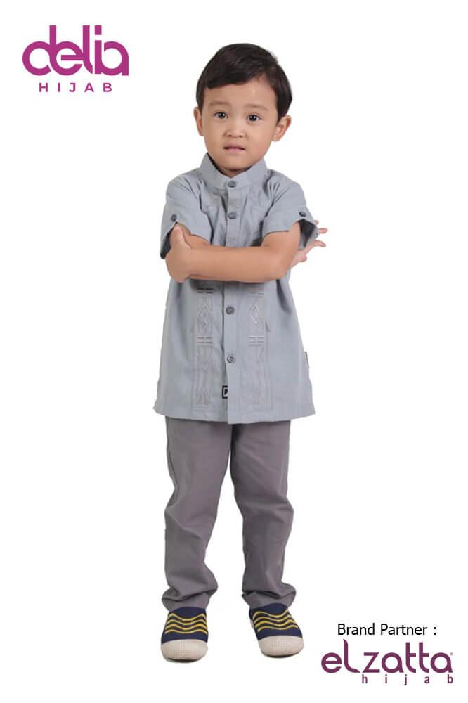 Baju Muslim Lebaran Idul Fitri 2020 - Baju Elzatta Sarimbit Kiana Boy