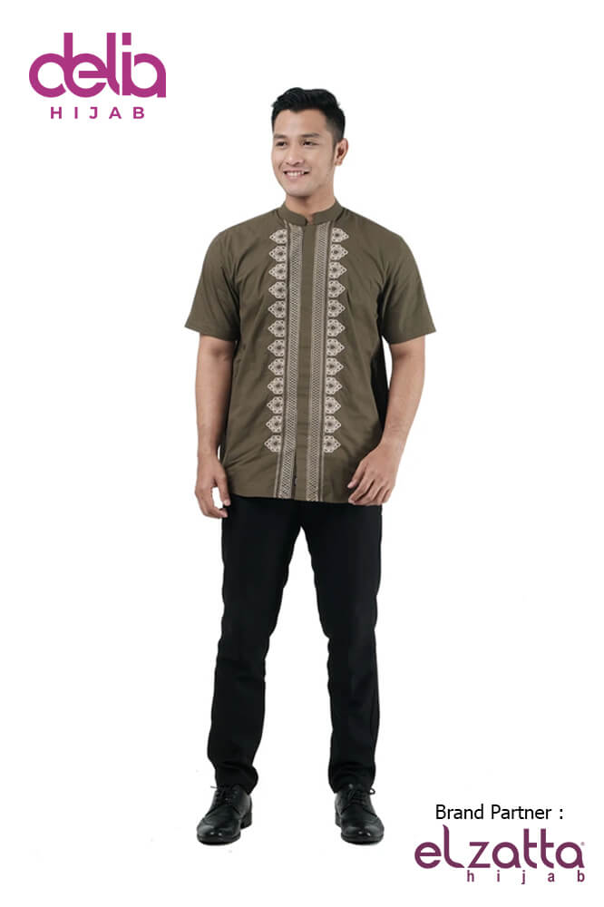 Baju Sarimbit Terbaru Lebaran 2020 - Baju Koko Elzatta Sarimbit Fadria Men