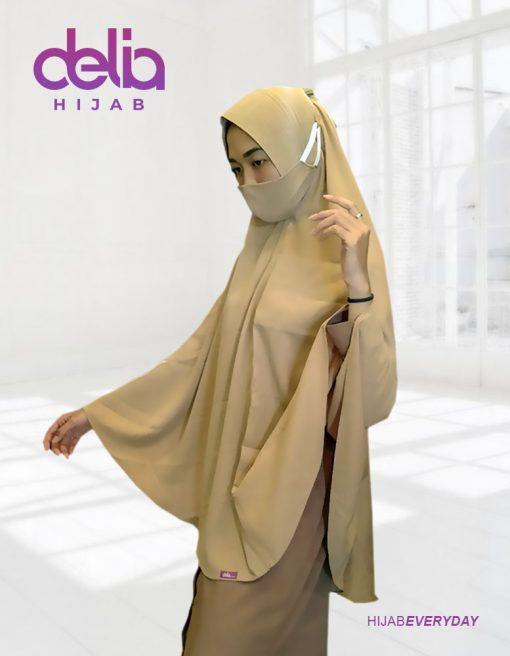 Kerudung Khimar Syar'i Terbaru - Khimar Pet Jumbo - Khimar Delia Hijab 01
