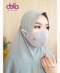 Masker Kain 3 Lapis Hijab - Masker Endomoda 01 - 1
