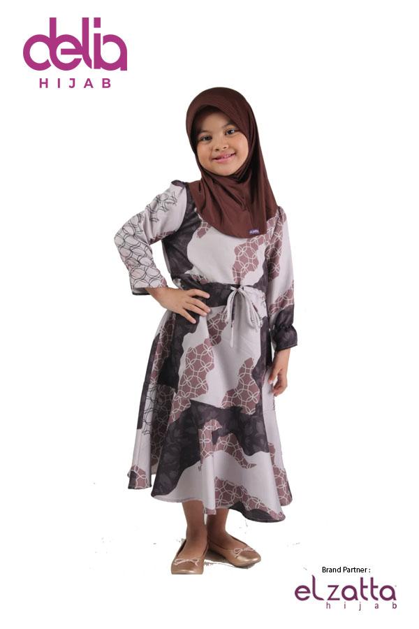 Sarimbit Keluarga Muslim - Gamis Anak Elzatta Sarimbit Eldira Girl