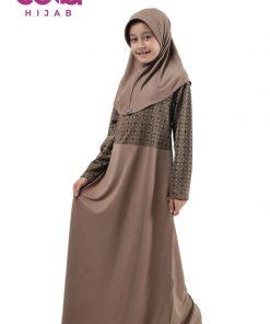 Sarimbit Keluarga Muslim - Gamis Anak Elzatta Sarimbit Tidzani Girl