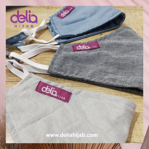 Masker Kain 3 Lapis Hijab - Masker Delia Hijab 01