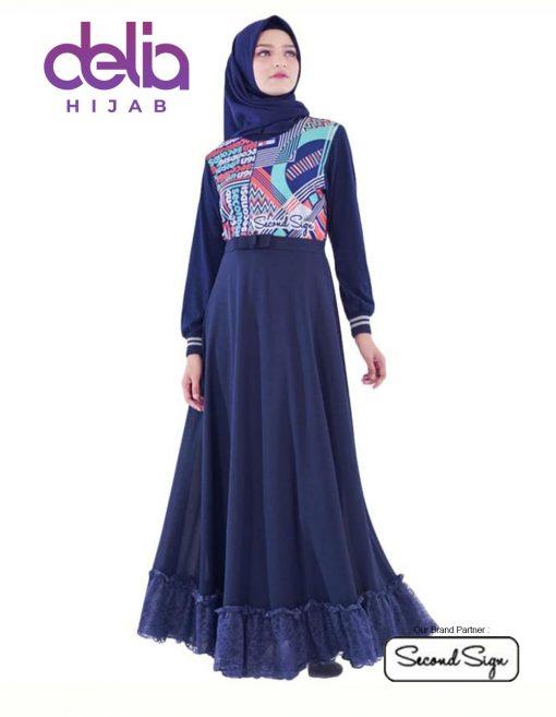 Baju Gamis Kekinian - Kiandra Dress - Second Sign by Zharifa