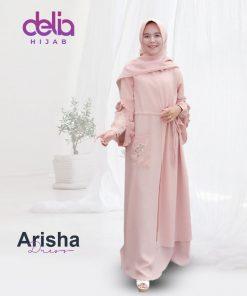 Baju Gamis Model Baru - Arisha Dress - Delia Hijab 2