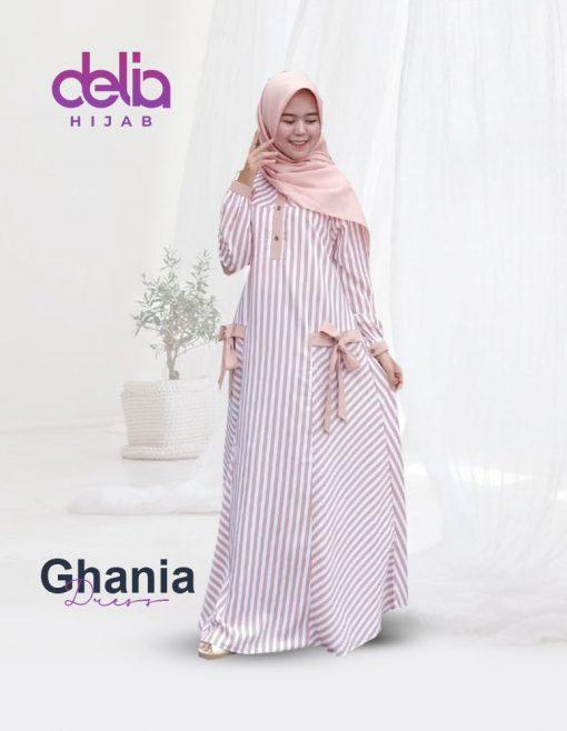 Baju Gamis Model Baru - Ghania Dress - Delia Hijab New P