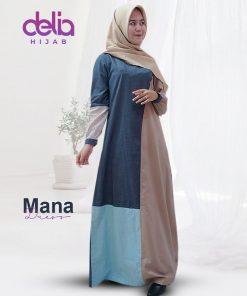 Baju Gamis Modern 2020 - Mana Dress - Delia Hijab C