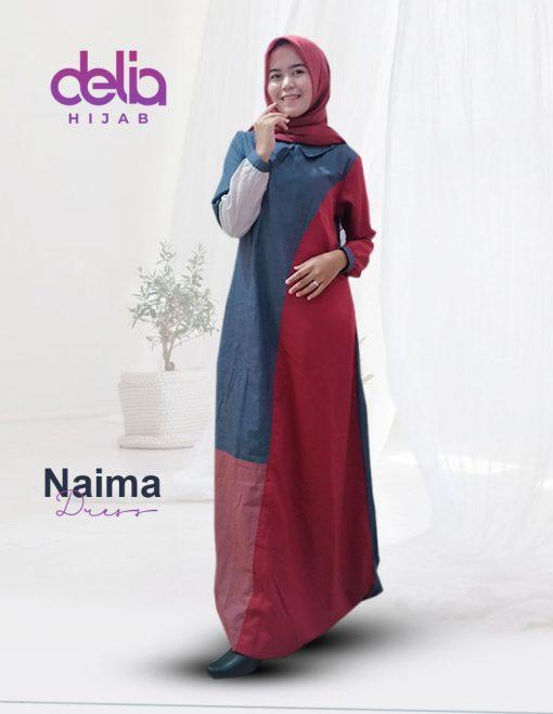 Baju Gamis Modern 2020 - Mana Dress - Delia Hijab M