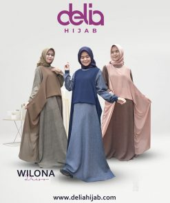 Baju Gamis Modern 2020 - Wilona Dress - Delia Hijab