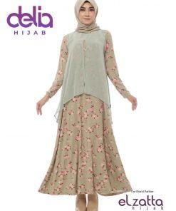 Baju Gamis Motif - Elzatta Gamis Maltasya - Elzatta Hijab 1