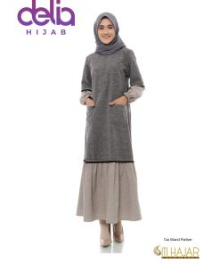 Baju Gamis Polos Modern - Jahara Dress - Siti Hajar