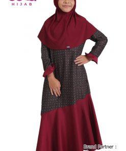 Baju Lebaran 2020 Terbaru – Baju Gamis Anak Elzatta Sarimbit Izzan Girl