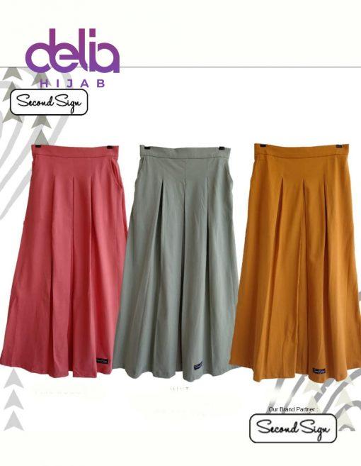 Baju Muslim Casual - Dafola Skirt - Second Sign by Zharifa Pink