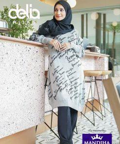 Baju Muslim Casual - Monogram Gradation Sweatshirt - Mandjha Hijab