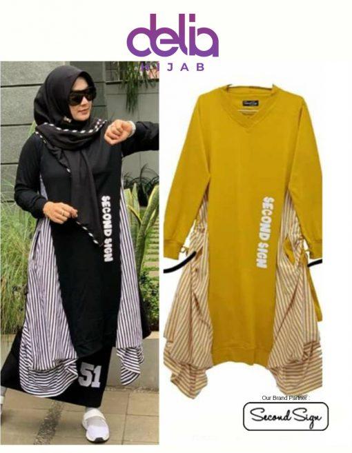Baju Muslim Kekinian - Malika Tunic - Second Sign by Zharifa