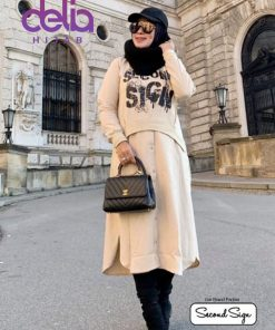 Baju Muslim Kekinian - Melisa Tunic - Second Sign by Zharifa Cream