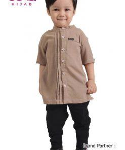 Baju Sarimbit Terbaru Lebaran 2020 – Baju Koko Anak Elzatta Sarimbit Mediana Boy