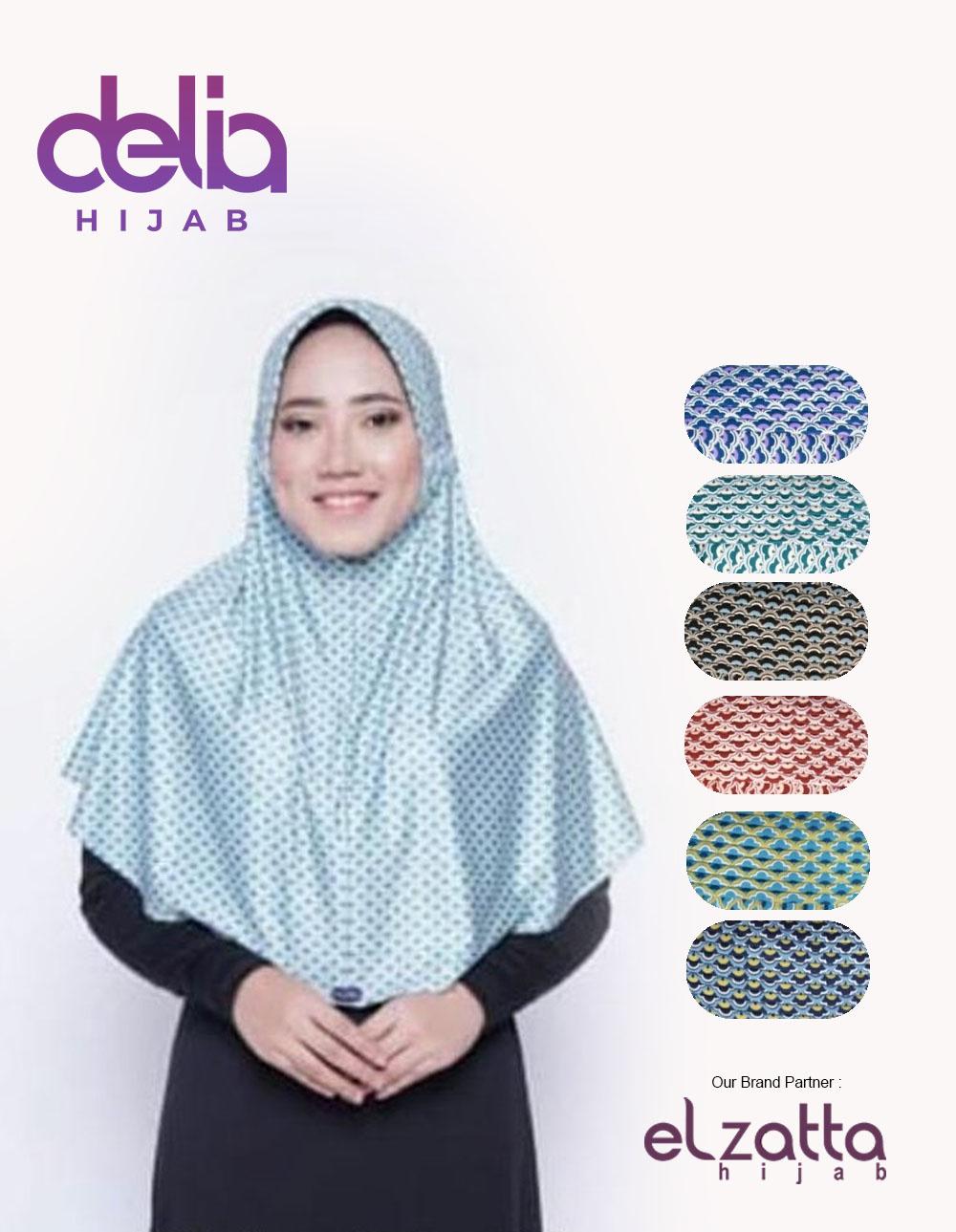Bergo Elzatta Motif Sahara Aileen Elzatta Hijab Delia Hijab