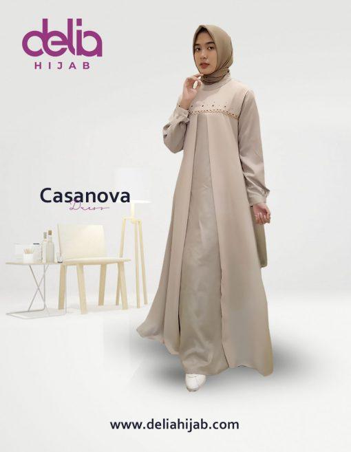 Baju Muslim Casual - Baju Gamis Modern - Baju Gamis Murah dan Cantik - Baju Gamis Model Sekarang - Delia Hijab Sukabumi - Casanova Dress - K