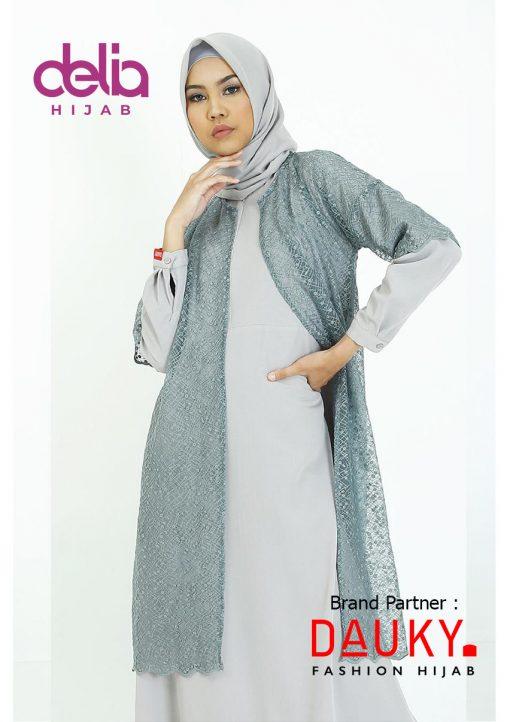 Baju Modern Masa Kini - Cyra Outer - Dauky Hijab Grey