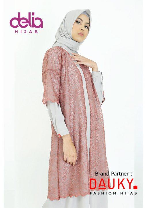 Baju Modern Masa Kini - Cyra Outer - Dauky Hijab Peach