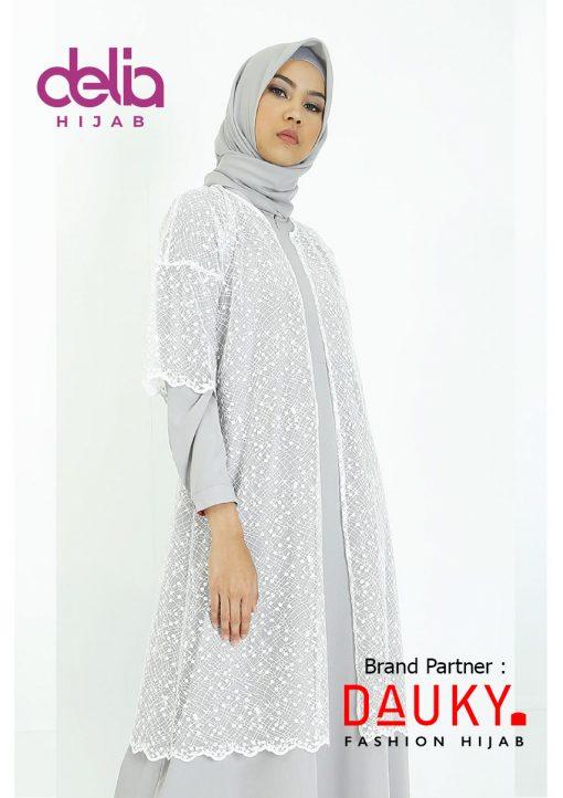 Baju Modern Masa Kini - Cyra Outer - Dauky Hijab White