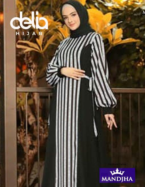 Dress Ivan Gunawan - Monogram Stripped Dress - Mandjha Hijab
