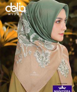 Kerudung Ivan Gunawan - Hope Green Scarf - Hijab Mandjha