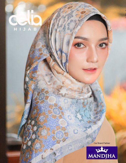 Kerudung Ivan Gunawan - Secret Love Blue Scarf - Hijab Mandjha 2