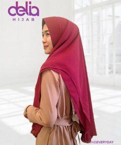 Kerudung Khimar Syari'i Terbaru - Khimar 2 Layer - Delia Hijab