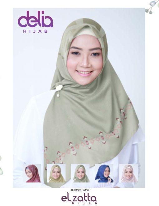 Kerudung Segi Empat Motif - Kanara Manira - Elzatta Hijab